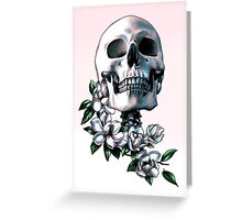 Skull & Magnolia Flowers Greeting Card