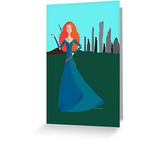 Origami - The Girl with Bow Greeting Card