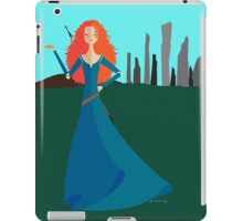 Origami - The Girl with Bow iPad Case/Skin
