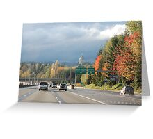 Washington State Capitol In Fall Greeting Card