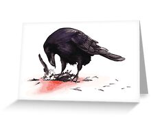 Crow, Bloody Snow 2 Greeting Card