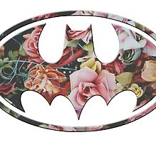 Floral Batman #2 by Rachael Burriss
