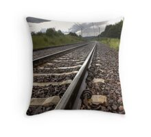 I'm on the railway wave Throw Pillow