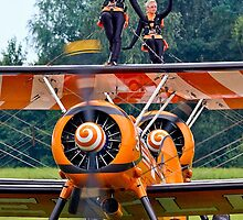 Breitling Wingwalkers Waving by Colin Smedley