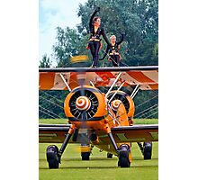 Breitling Wingwalkers Waving Photographic Print