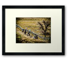 The Cowboy Way Framed Print