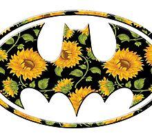 Sunflower Batman by Rachael Burriss
