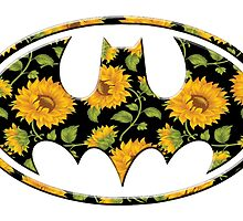 Sunflower Batman by Rachael Burriss