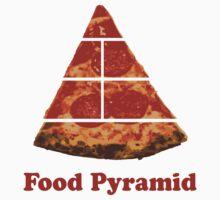 Food Pyramid Pizza One Piece - Short Sleeve