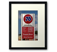 Thanksgiving Gas Prices Framed Print