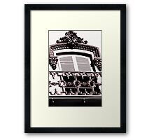 Architectural Window Framed Print
