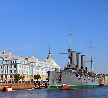 Russian Cruiser Aurora by Catherine Sherman