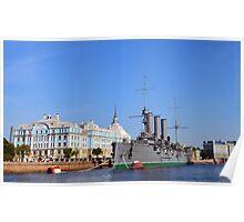 Russian Cruiser Aurora Poster