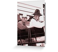 Boss and Hoss Greeting Card