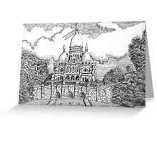 218 - SACRE COEUR, PARIS - DAVE EDWARDS - INK - 2008 Greeting Card