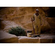 Jordan, Petra - Workman Photographic Print
