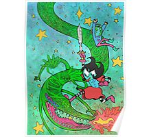 Space Dragons are Fun Poster