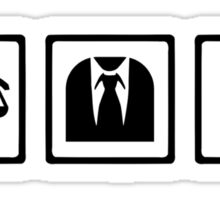 Lawyer scale suit Sticker