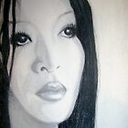Woman Drawing by Dea B