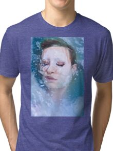 Blue of Noon - erotic nude cool water sexy nature crazy power proud woman awesome Tri-blend T-Shirt