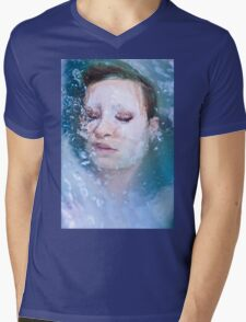 Blue of Noon - erotic nude cool water sexy nature crazy power proud woman awesome Mens V-Neck T-Shirt