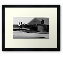 Mosquito beat-up at Greenham Common Framed Print
