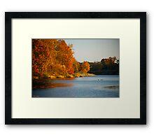 The Wye River Flows Framed Print