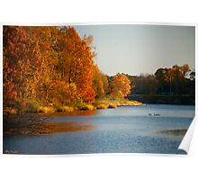 The Wye River Flows Poster