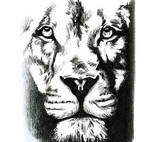 White Lion Phone Case by ShopByTeddy