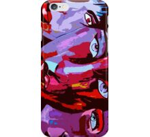 3 Faces Japanese abstract art iPhone Case/Skin