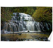 Purakaunui Falls New Zealand Poster