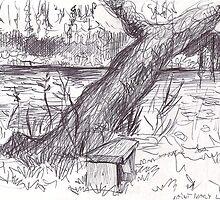 SAINT MARY LAKE BC(JULY 19 2007)(C2007) by Paul Romanowski