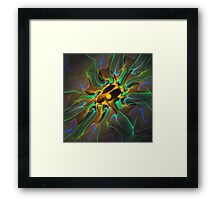 'Light Flame Abstract 199' Framed Print