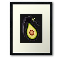 Avocado Grenade Framed Print
