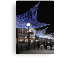 Regent Street at Christmas Canvas Print