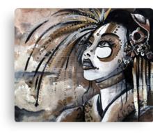 Geisha in Steam: The Hopefull Concubine Canvas Print
