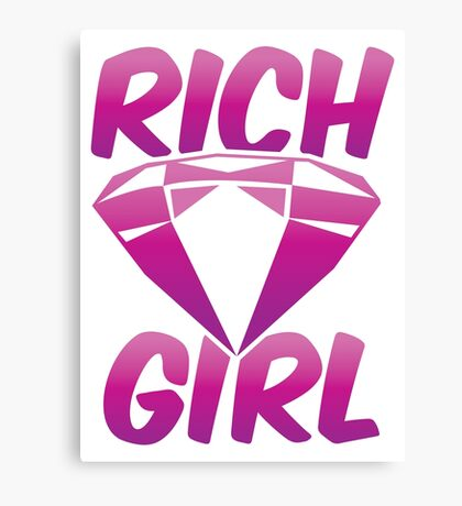 RICH GIRL with pink diamond Canvas Print