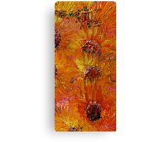 Textured Sunflowers Canvas Print