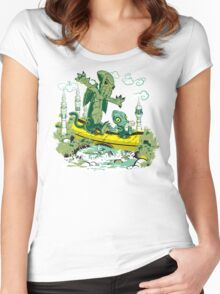 DAGONIN AND CTHULOBBES Women's Fitted Scoop T-Shirt