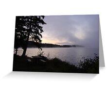 Algonquin Morning Fog Greeting Card