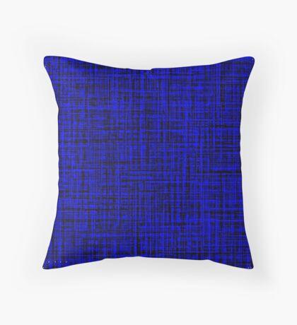 Blue, Blue, Blue Throw Pillow