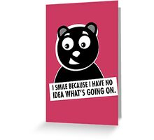 Naughty Bear Greeting Card
