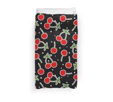 Retro Cherries and Stars Pattern Duvet Cover
