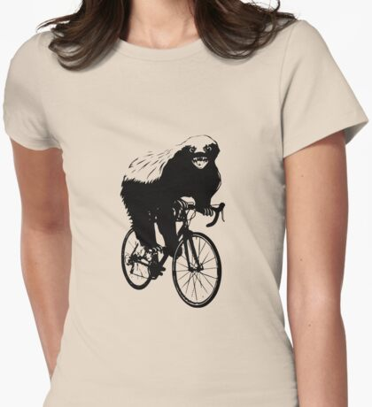 HONEYBADGER DOES CARE! Womens Fitted T-Shirt