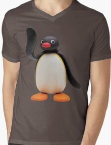Pingu Mens V-Neck T-Shirt