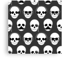 Hipster Skulls Pattern Canvas Print