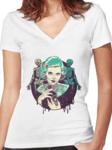 Poisoned Plum Women's Fitted V-Neck T-Shirt