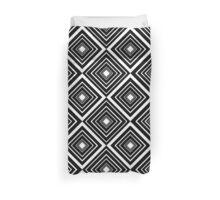 Retro Diamond Pattern Black and White Duvet Cover
