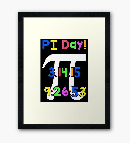PI Day! Framed Print