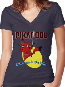 Pikapool Women's Fitted V-Neck T-Shirt